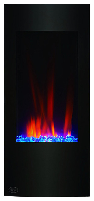 """Clevr 750-1500w Vertical Electric Wall Mount Fireplace Heater Stone Color, 32""""."""