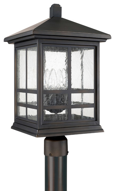 Capital Lighting Preston Old Bronze Mission Post Lantern W/ 4 Light 60w - 9915ob.