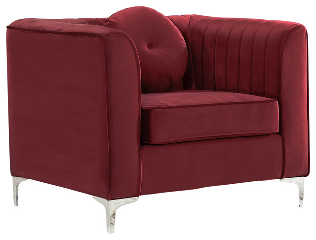 Meridian Furniture Usa Isabelle Velvet Chair View In