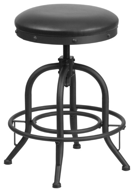 Beaufort Leather Swivel Counter Stool industrial-bar-stools-and-counter- stools  sc 1 st  Houzz & Beaufort Leather Swivel Counter Stool - Industrial - Bar Stools ... islam-shia.org