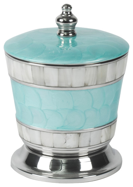 "Classic 5.5"" Covered Canister, Aqua."
