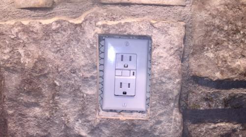 Contractor Left Me With Outlet Problem On Stone Backsplash