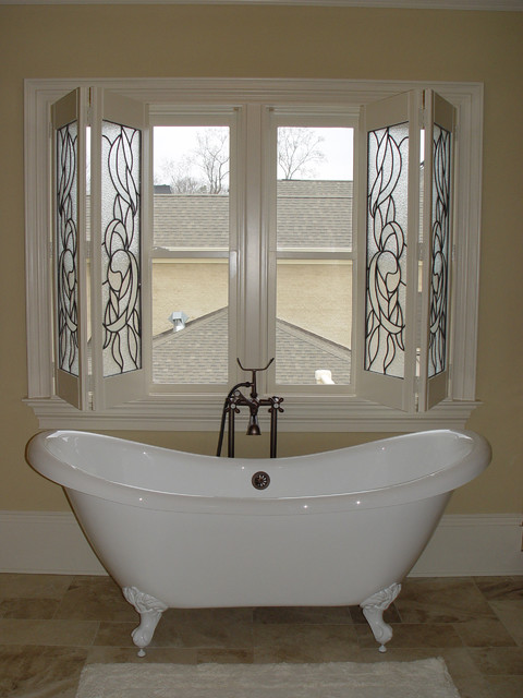 Elite Shutters in Bathroom Settings - Traditional - Window Blinds - Charlotte - by Elite ...