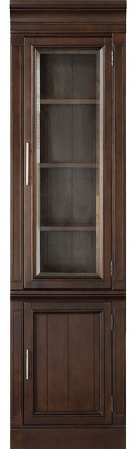 Parker House Stanford 22 Glass Door Cabinet, Sherry by Parker House