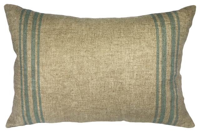 Grainsack Striped Linen Pillow.