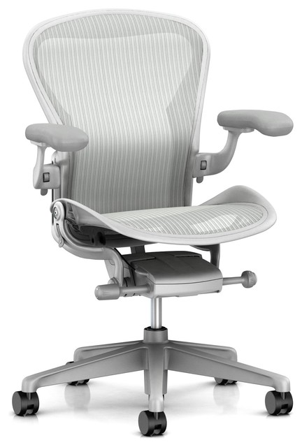 herman miller aeron task chair, zonal back support, adjustable arm