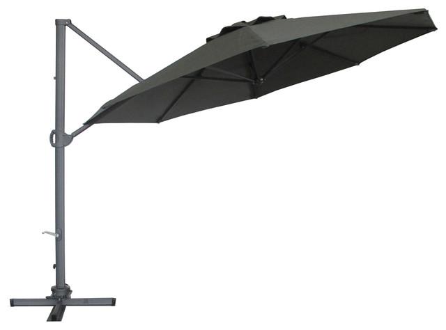 Abba Patio 11Ft Cantilever Patio Umbrella With Base , 360 Rotating Device,  Verti Contemporary