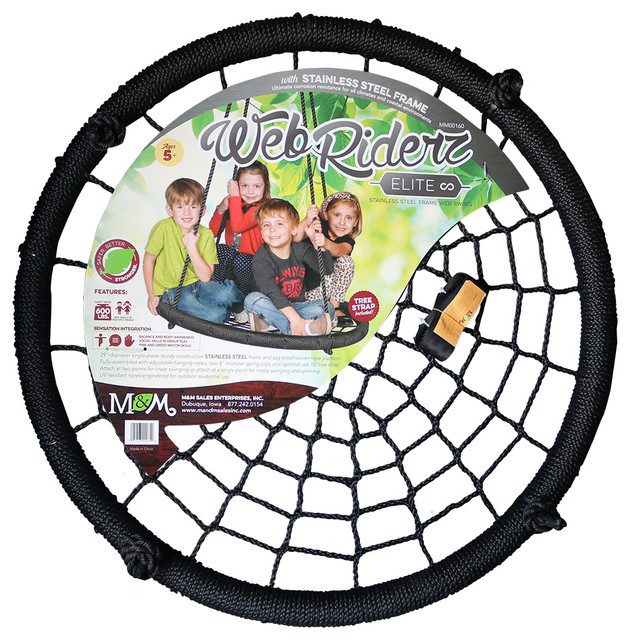 Web Riderz Swing Elite Stainless Steel Contemporary Kids