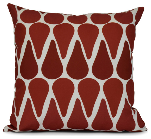 Watermelon Seeds, Geometric Print Pillow - Contemporary - Decorative Pillows - by E by Design