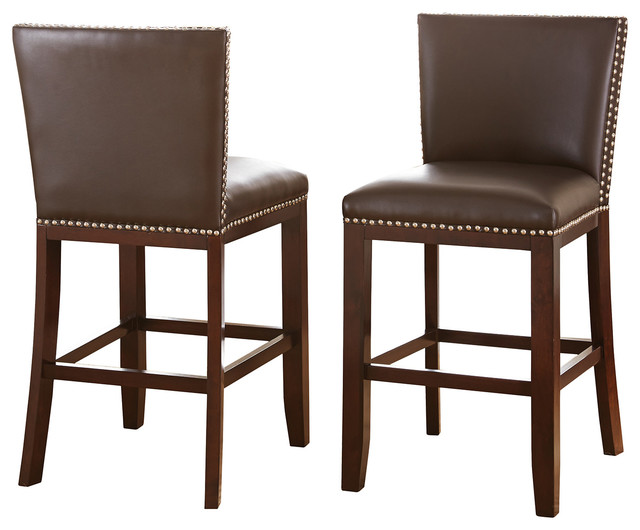 counter chairs set of 2 transitional bar stools and counter stools