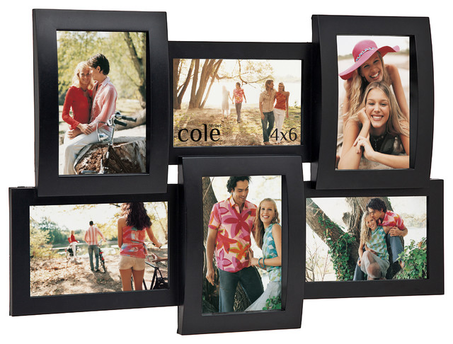six openings 4x6 injection molded collage frame modern picture frames