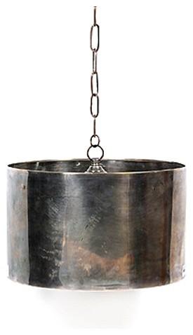 Industrial Steel Drum Pendant Eclectic Pendant