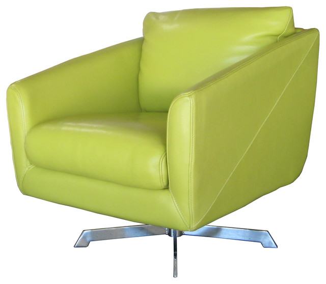 Jayden Full Top Grain Leather Swivel Contemporary Chair  : contemporary armchairs and accent chairs from www.houzz.com size 640 x 558 jpeg 51kB