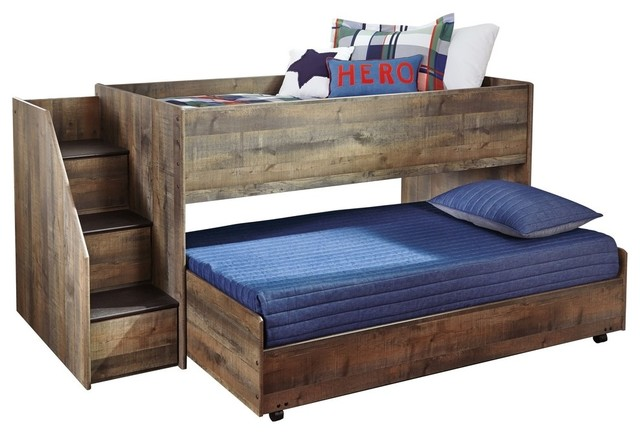 Ashley Trinell Twin Loft Bed, Brown.