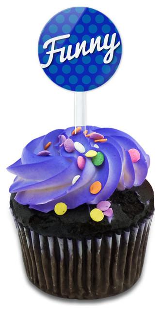 Funny Or Strange You Decide Cupcake Toppers Picks Set.