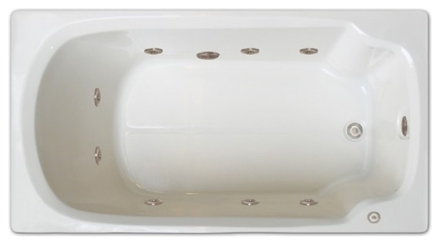 whirlpool insert for bathtub. Signature Bath  60 x32 Drop In Whirlpool Tub Left Drain Contemporary