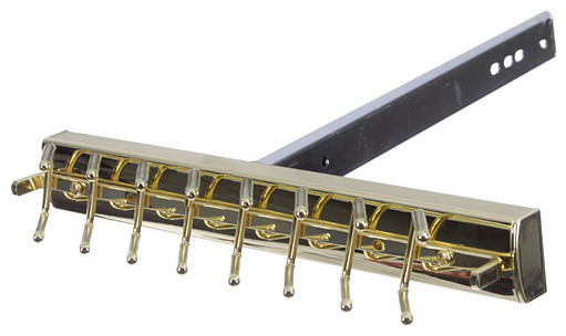 Tie Organizer, Polished Brass.