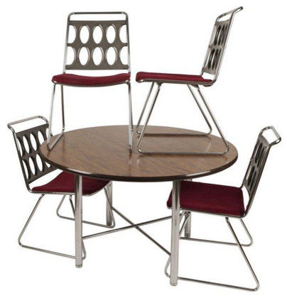 Chrome Dinette Chairs chromcraft smoked lucite and chrome dinette