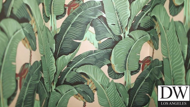 Beverly Hills Martinique Banana Leaf Wallpaper Coastal
