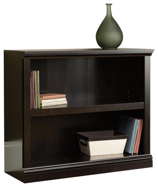 Sauder Select 2 Shelf Bookcase in Estate Black