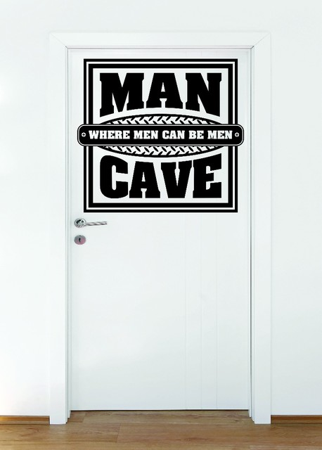 Decal Man Cave Where Men Can Be Men Warning Beware 20x20 Contemporary Wall Decals By Design With Vinyl Houzz
