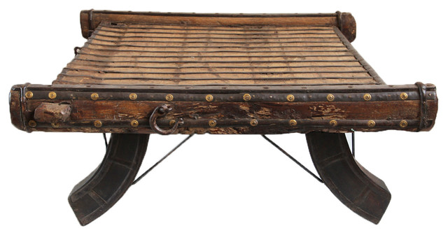 Ox Cart Coffee Table Eclectic Coffee Tables By