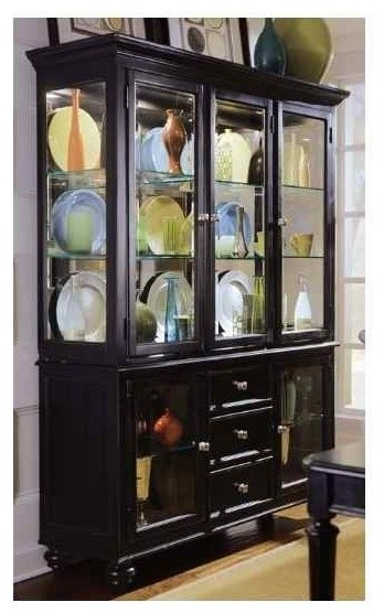 Camden Dark China Cabinet In Black Finish