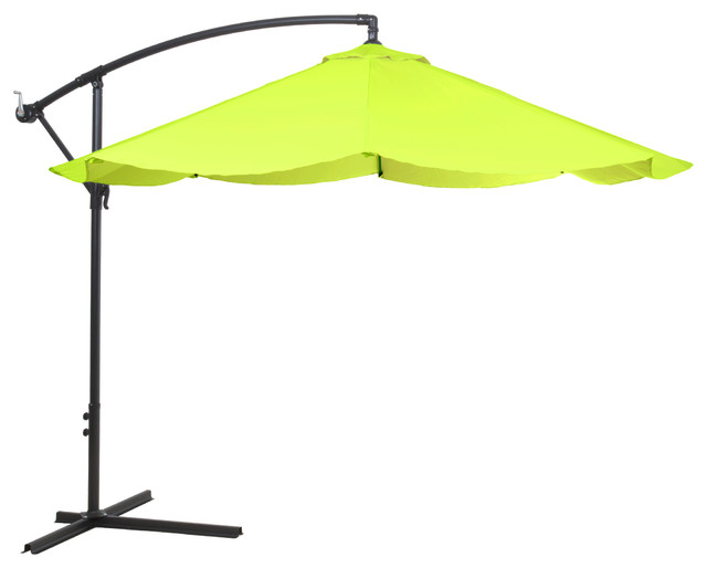 Pure Garden fset Aluminum Hanging Patio Umbrella