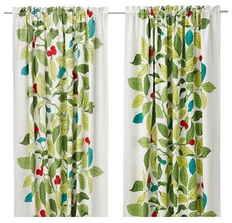 Ikea Stockholm Blad Pair Of Curtains Scandinavian