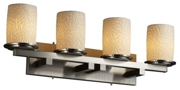 Justice Design Dakota 4 Light Straight Bath Bar Tropical Bathroom Vanity Lighting By Designer Lighting And Fan Houzz