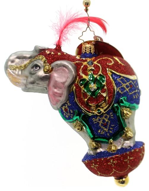 Christopher Radko Ornamental Mammoth Glass Elephant Circus 1018958