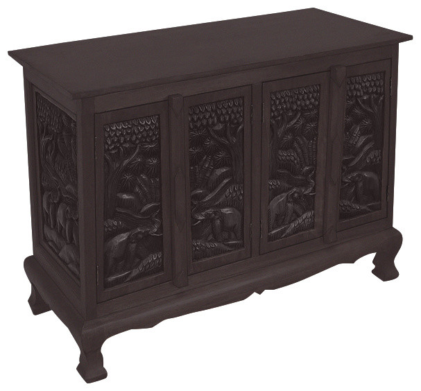 Shop Houzz | EXP Handmade Four-Door Elephant Storage Cabinet and Sideboard Buffet - Buffets And ...