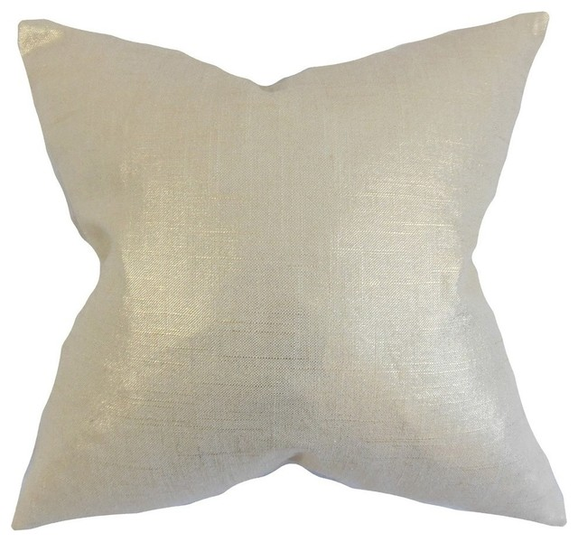 Antique Gold Decorative Pillows : Florin Solid Pillow, Antique Gold - Contemporary - Decorative Pillows - by The Pillow Collection