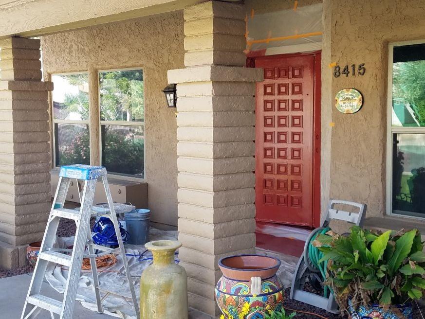 Front doors- Splash of color