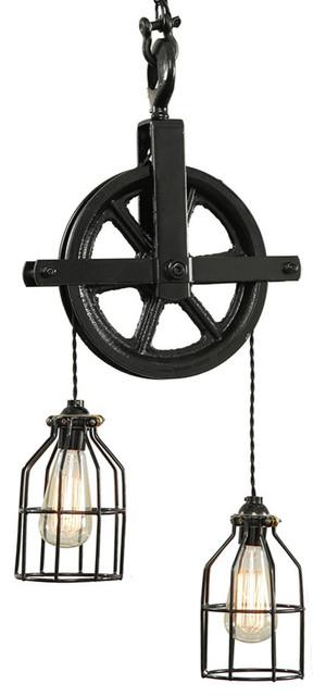 Black Barn Pulley Light.