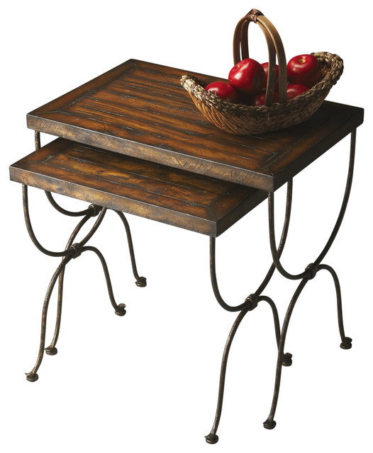 "Butler Mountain Lodge 24 1/2"" Nesting Tables, 2-Piece Set"