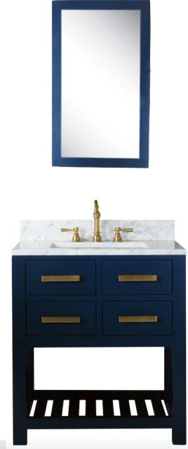 Madison 24 Carrara White Marble Vanity