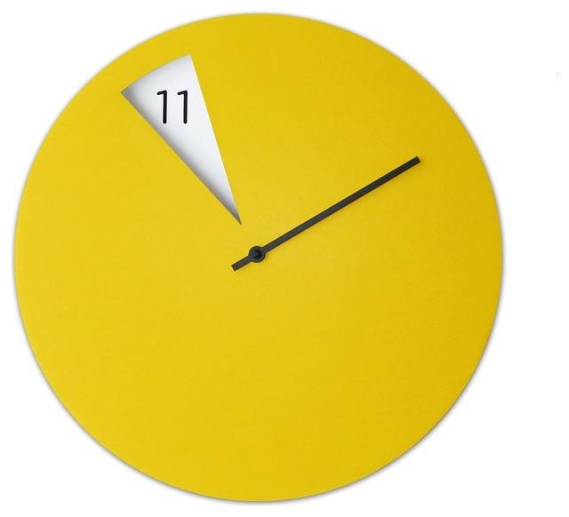 freakish wall clock yellow modern wall clocks london by