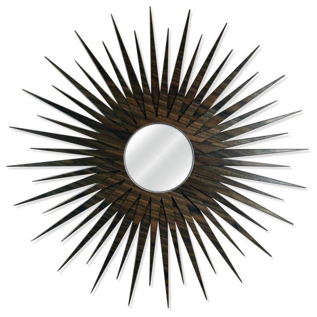 Midcentury Modern Decor Mcm Starburst Mirror Walnut Wooden Sunburst Wall Mirrors By Crowd