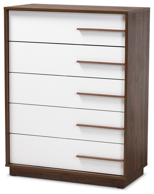 NEW 5 Drawer Dresser Chest Drawers Modern Storage Bedroom Furniture Wooden