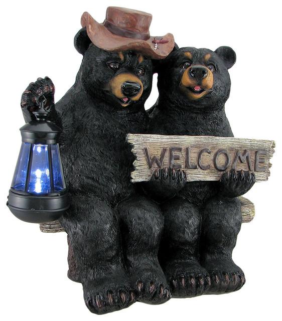 Shop Houzz Zeckos So Happy Together Black Bear Couple