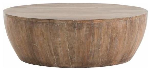 "arteriors 4303 jacob 35.5"" diameter wood coffee table"