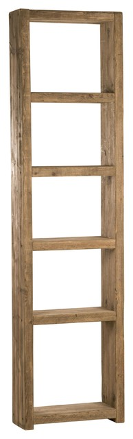 Reclaimed Wood Bookcase, Natural Wood