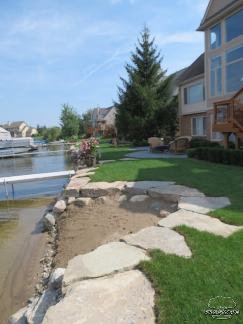 Lakefront Patio and beach - Traditional - detroit - by ... on Lakefront Patio Ideas id=75498