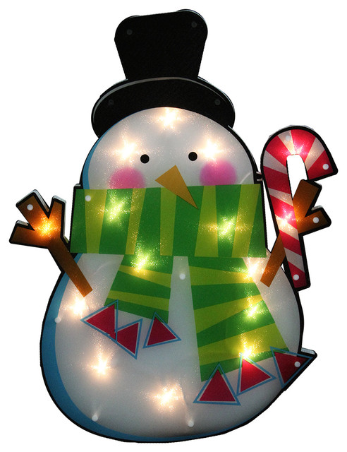 Northlight seasonal lighted shimmering snowman for 16 lighted snowflake christmas window silhouette decoration