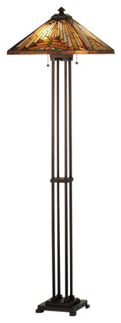 Meyda Tiffany 66228 Mission Floor Lamp.
