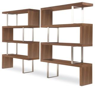 Pearl Bookcase in Walnut Finish