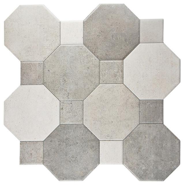 "SomerTile 17.75""x17.75"" Imagina Cement Ceramic Wall Tiles, Set of 10"