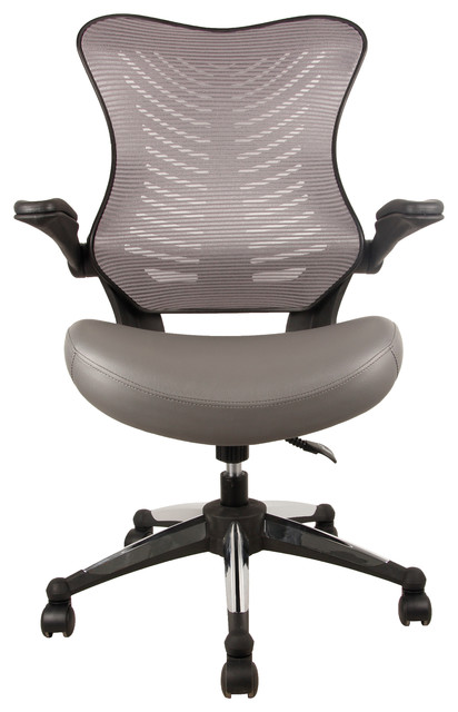 Office Factor Executive Ergonomic Office Chair Back Mesh Bonded Leather  Seat   Contemporary   Office Chairs   By OFFICES WAREHOUSE