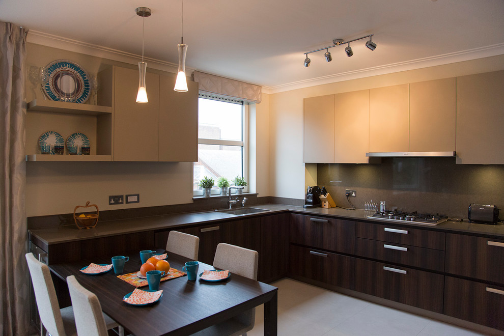 Example of a trendy home design design in London